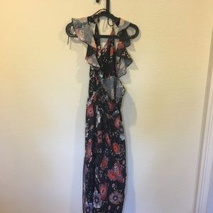 Chicwish Dresses - Chicwish floral black maxi dress